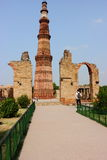 Qutub Minar monument in New Delhi, India Stock Image