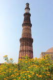 Qutub minar monument Royalty Free Stock Photos