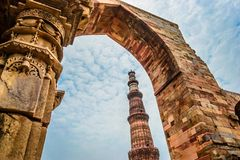Qutub Minar New Delhi Royalty-vrije Stock Fotografie