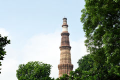 Qutub Minar, New Delhi Stock Afbeelding
