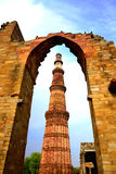 Qutub Minar, New Delhi, India Royalty-vrije Stock Fotografie