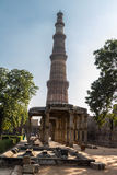 Qutub minar, new delhi. A view of the Qutub Minar tower in New Delhi Stock Photos