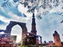 Qutub Minar Nueva Deli fotos de archivo