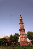 Qutub Minar. A red sandstone is the tallest monument in Delhi, India Stock Photography
