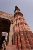 Qutub Minar. A red sandstone is the tallest monument in Delhi, India Royalty Free Stock Photo