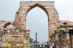Qutub minar ruins Stock Photography