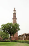 Qutub Minar is the tallest brick minar in the world Stock Photography