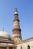 Qutub minar with tomb Stock Images