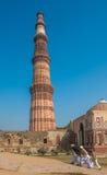 Qutub Minar torn, Delhi, Indien Fotografering för Bildbyråer