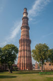 Qutub Minar tower, Delhi, India Royalty Free Stock Images