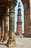 Qutub Minar Tower in Delhi, India Stock Images