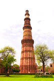 Qutub-Minar Tower, Delhi, India Royalty Free Stock Photo