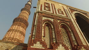 Qutub Minar tower - India stock video
