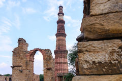 Qutub Minar tower. Qutub Minar ,Indian UNESCO World Heritage Royalty Free Stock Images
