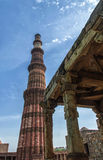 Qutub Minar Tower Stock Photo
