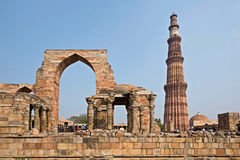 Qutub Minar Tower in New Delhi Royalty Free Stock Photography