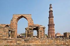 Qutub Minar Tower in New Delhi royalty free stock photography
