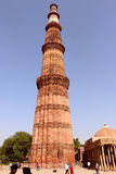 Qutub Minar, UNESCO-Welterbestätte, Delhi Lizenzfreie Stockfotografie