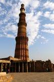 Qutub Minar - the world`s tallest brick minaret. Stock Photography