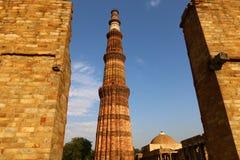 Qutub Minar - the world`s tallest brick minaret. Royalty Free Stock Photos