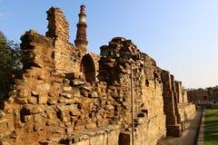 Qutub Minar - the world`s tallest brick minaret. Stock Images