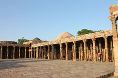 Qutub minars pillars Stock Photography