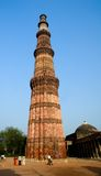 qutub neuf minar de Delhi Inde Photos stock