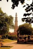 Qutub Minar. Qutub-minar is ancient Islamic monument and inscribed with Islamic inscription. was built during the rein of Slave Dynasty in 1192. It was initially Royalty Free Stock Images