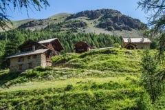 Quyras ceillac Riaille в alpes hautes в Франции стоковое изображение