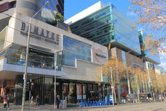 QV shopping mall Melbourne Australia. People visit QV shopping mall in Melbourne Australia. QV is located in the city centre of Melbourne and one of the most Stock Photo