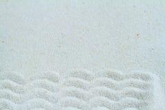 Qwartz sand med vågor, bakgrund Royaltyfri Fotografi