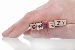 Qwerty Foto de Stock Royalty Free