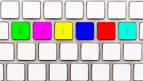 Qwerty. Popular qwerty buttons on keyboard Royalty Free Stock Images