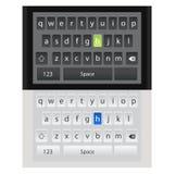 QWERTY bewegliche Tastaturmodelle Smartphones Verschiedene Farben und Arten Ideal für bewegliche Designanwendungen vektor abbildung