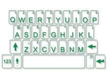 QWERTY flaches Grün der Tastatur stock abbildung