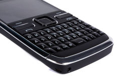 QWERTY Keyboard. A QWERTY keyboard of a smartphone, on white background Stock Photography