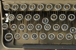 Qwerty keyboard old typewriter Royalty Free Stock Images
