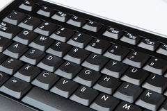 Qwerty Keyboard on a white background. Qwerty Keyboard on white background royalty free stock photos