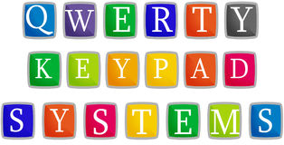 Qwerty keypad. Systems for web or illustration Stock Photos