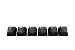 Qwerty keys. Qwerty - single keys from keyboard, macro over white Stock Photos