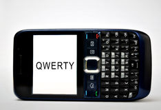 QWERTY mobil telefon Arkivbild