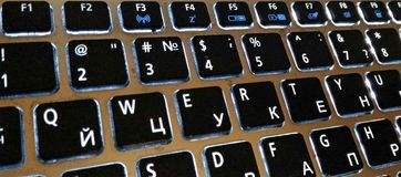 QWERTY password. Concept photo for one of the most popular passwords in the world - QWERTY royalty free stock photo