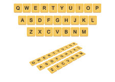 Qwerty scrabble keyboard concept Stock Photos