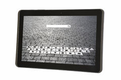 Qwerty On Tablet. Creative qwerty keyboard on a tablet Royalty Free Stock Photography