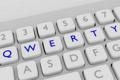 QWERTYplan-Konzept stock abbildung