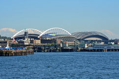 Qwest field and Safeco ballpark royalty free stock photo