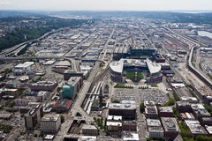 QWEST and Safeco Field in Seattle royalty free stock photography