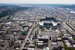 QWEST y Safeco colocan en Seattle Fotografía de archivo libre de regalías