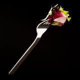 Rábano en una fork Imagen de archivo