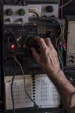 Rádio-amador idoso Fotografia de Stock